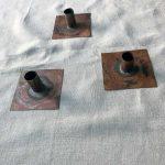 Håndlavet lysestage i kobber - Andrea Brugi