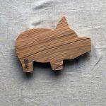Ubehandlet skærebræt fra Andrea Brugi 30 x 22 cm
